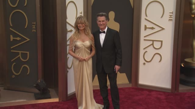 Goldie Hawn and Kurt Russell 86th Annual Academy Awards Arrivals at Hollywood Highland Center on March 02 2014 in Hollywood California