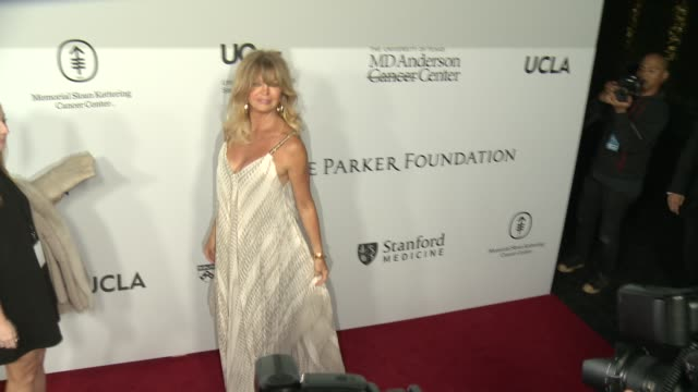 goldie hawn at sean parker and the parker foundation celebrate the launch of the parker institute for cancer immunotherapy on april 13, 2016 in los... - goldie hawn stock-videos und b-roll-filmmaterial