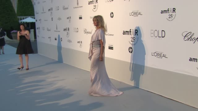 Goldie Hawn at the amfAR Gala Red Carpet Arrivals 64th Cannes Film Festival at Antibes