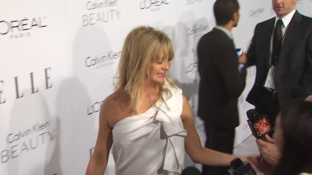Goldie Hawn at the ELLE Magazine's 17th Annual Women in Hollywood Celebration at Beverly Hills CA