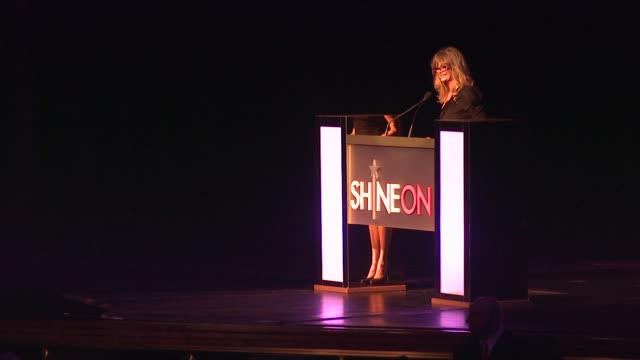 Goldie Hawn introduces honoree Michelle A Rhee at the Good Housekeeping's Annual Shine On Awards Honor Remarkable Women at New York NY