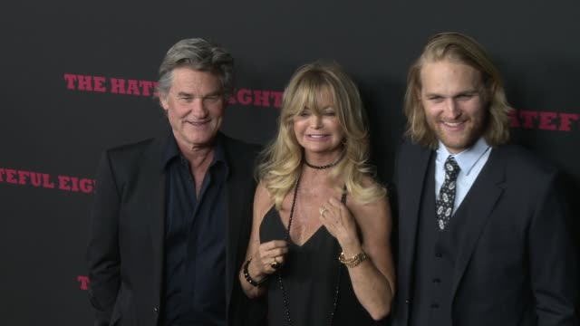 Goldie Hawn Kurt Russell and Wyatt Russell at The Hateful Eight World Premiere at ArcLight Cinemas on December 07 2015 in Hollywood California