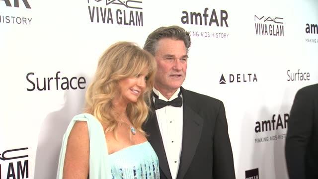 Goldie Hawn Kurt Russell at amfAR's Inspiration Gala Los Angeles in Los Angeles CA