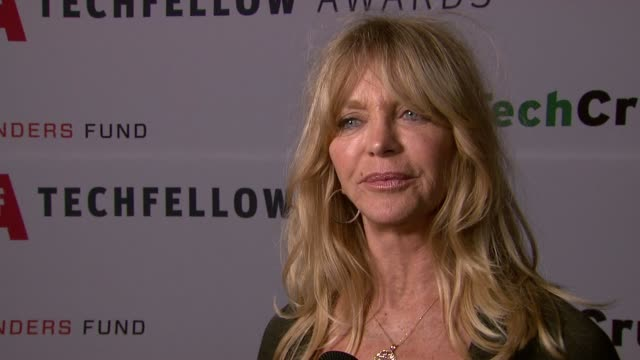 Goldie Hawn on everyone as a 'geek' at TechFellow Awards 2012 in San Francisco CA on 2/22/2012