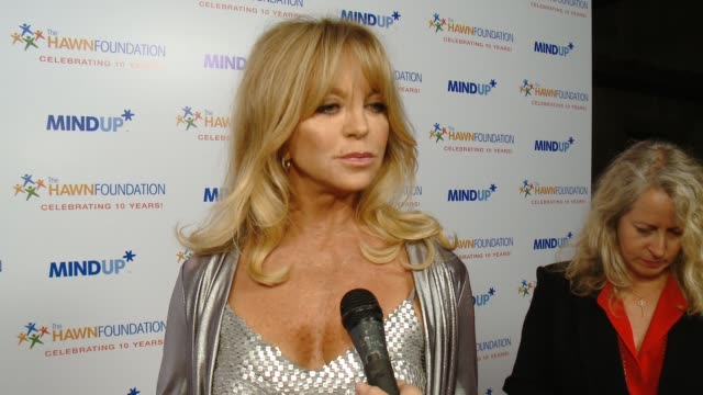INTERVIEW Goldie Hawn on the event at Goldie Hawn's Inaugural 'Love In For Kids' Benefitting The Hawn Foundation's MindUP Program Transforming...