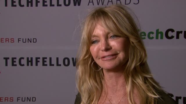 Goldie Hawn on using technology at TechFellow Awards 2012 in San Francisco CA on 2/22/2012