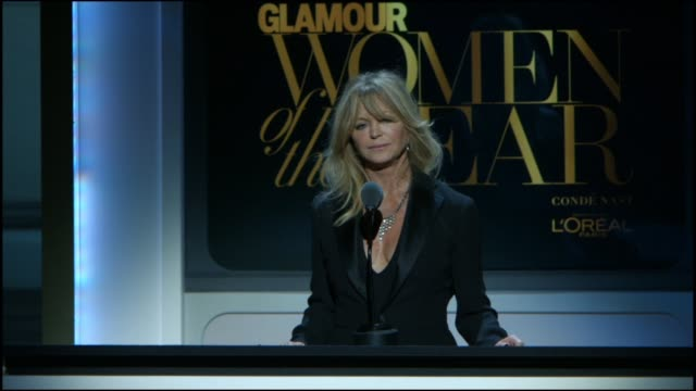 SPEECH Goldie Hawn presents Reece Witherspoon with an award at Glamour Magazine's 25th Annual Women Of The Year Awards at Carnegie Hall on November...