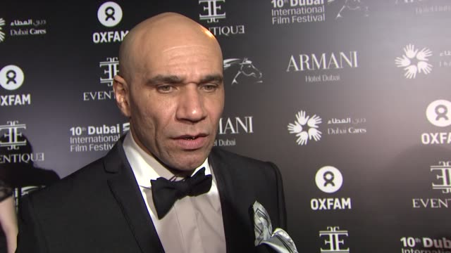 interview goldie on the importance of the event at the oxfam charity gala at madinat jumeirah on in dubai united arab emirates - goldie stock videos & royalty-free footage
