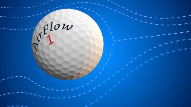 vídeos de stock, filmes e b-roll de aerodinâmica da esfera de golfe - bola de golfe