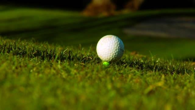 vidéos et rushes de balle de golf sur - tee de golf