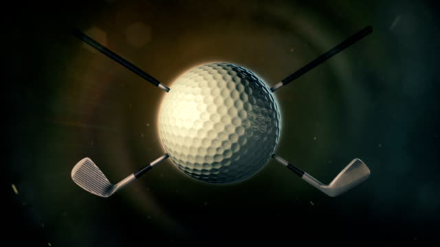 golf ball in epic lighting - golf club stock videos & royalty-free footage