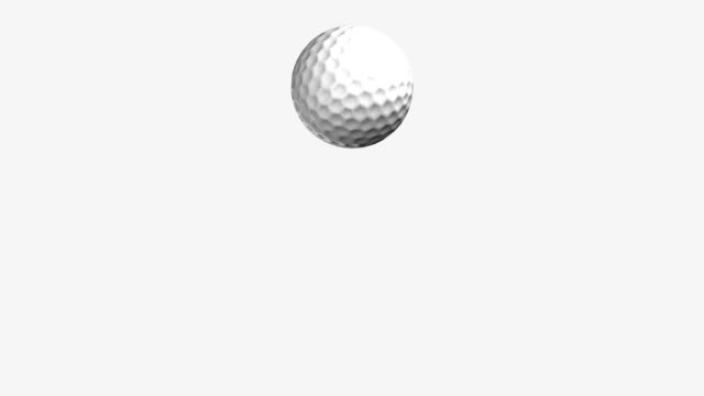 golf ball jumping loop isolated with luma matte zg - golf ball stock videos & royalty-free footage