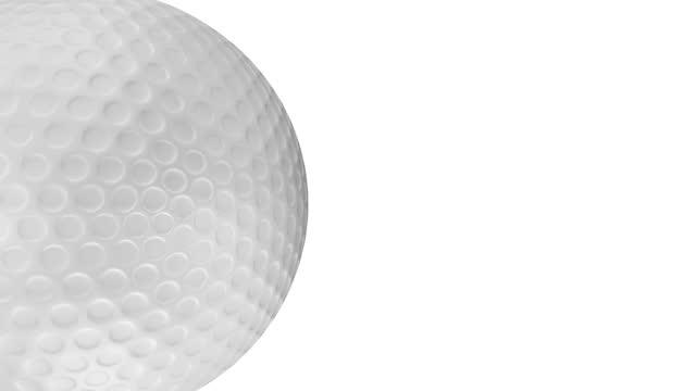 vidéos et rushes de bille de golf tournant sur le fond blanc - bombe