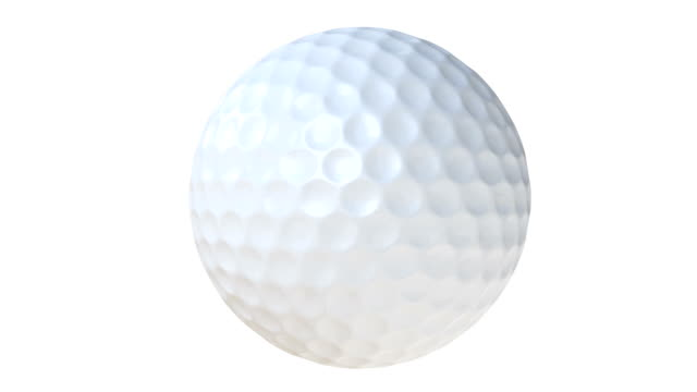 golf ball spinning with alpha matte - loopable animation - golf ball stock videos & royalty-free footage