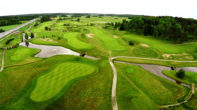 golf course aerial - golf course stock videos and b-roll footage