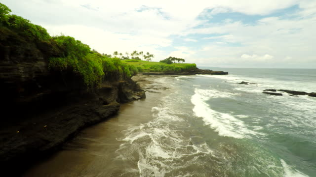 AERIAL Golf Course Along Bali Coast