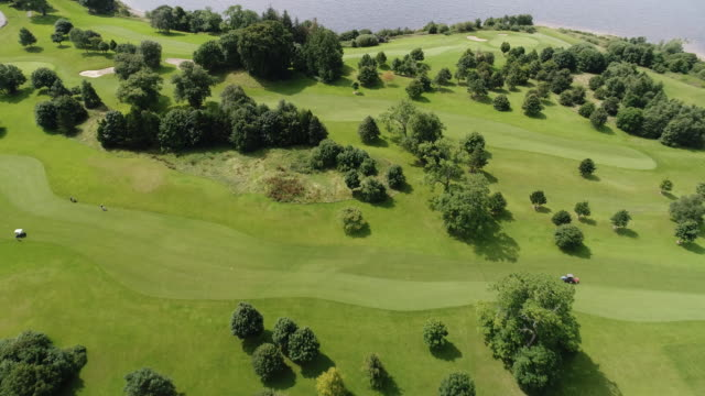golf course close up from above - golf course stock videos & royalty-free footage