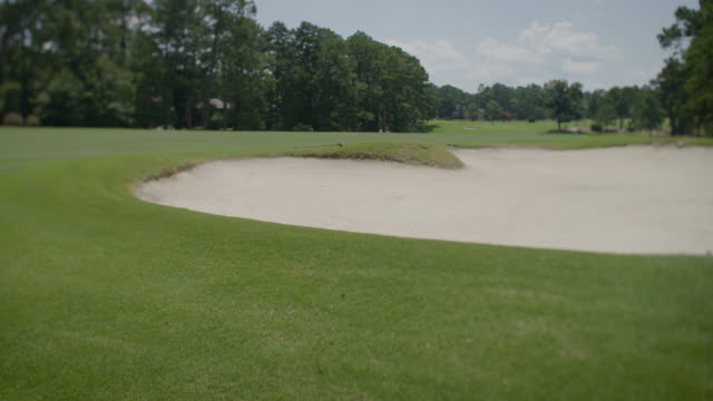 golf course - sand trap - sand pit stock videos and b-roll footage