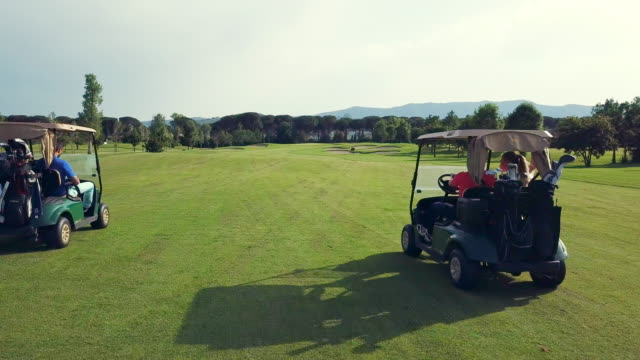 golf course - golf cart stock videos & royalty-free footage