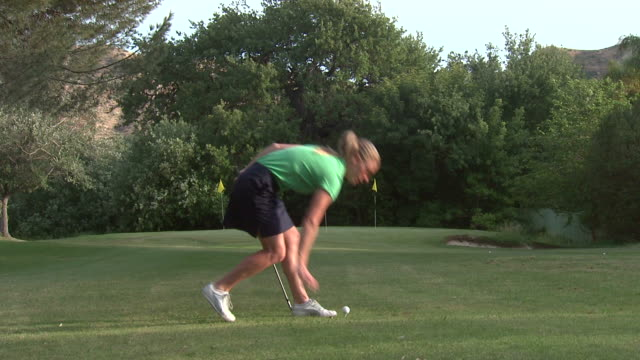 golf drive - golf ball stock videos & royalty-free footage