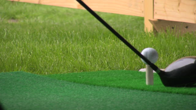 golf field. training and practicing facility. - golf swing stock videos & royalty-free footage