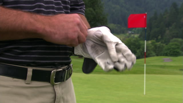 golf glove - golf glove stock videos and b-roll footage