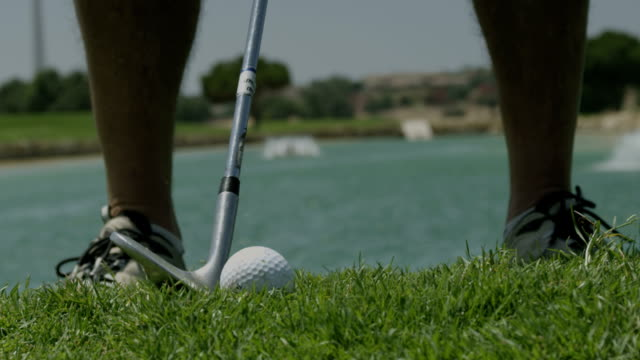 Golf hit, slow motion