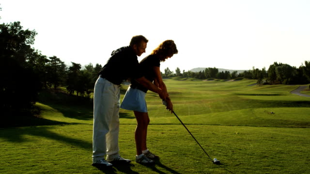 golf lesson - golfer stock videos and b-roll footage