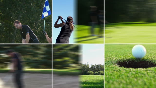 golf montage, summer freedom - golf course stock videos & royalty-free footage