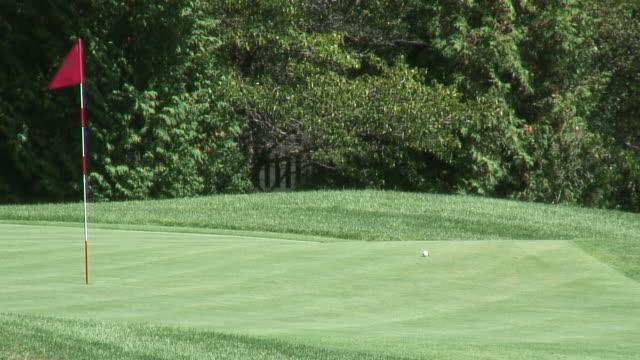 vídeos y material grabado en eventos de stock de golf polos 3-hd de 1080 de 60i - bandera de golf