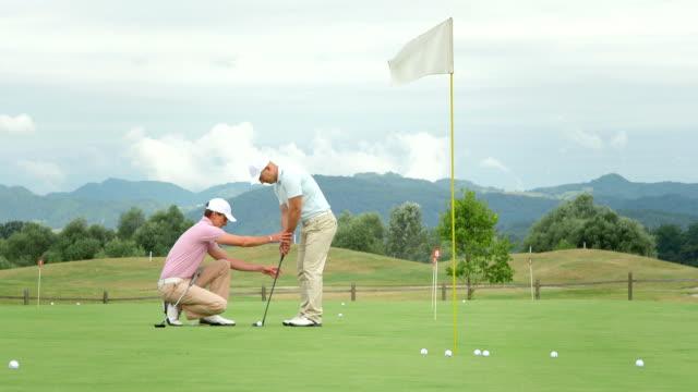 HD :ゴルフプロギブ、ハイファイブを彼の学生