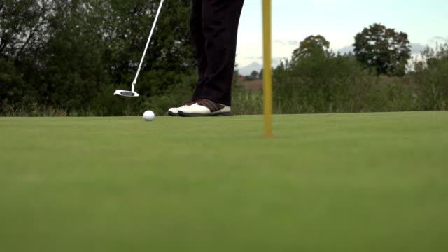 golf put slowmotion