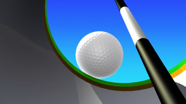 golf putt - inside view - golf ball stock videos and b-roll footage