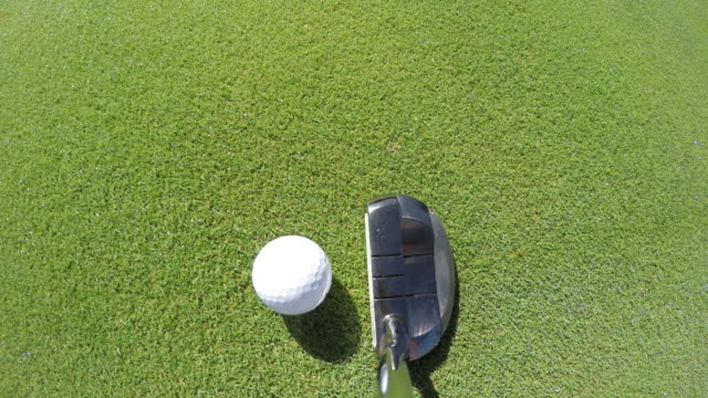 golf putt - ゴルフのスウィング点の映像素材/bロール