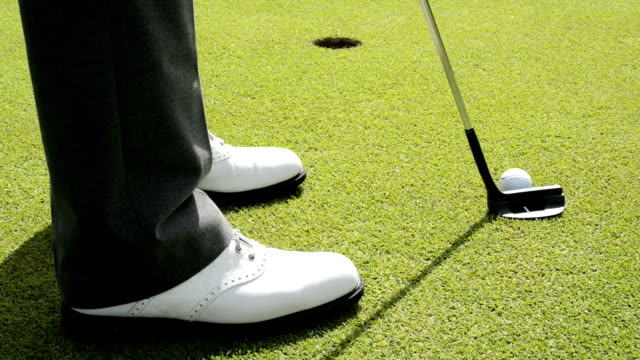 Golf shoes and putter