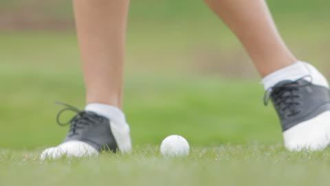 golf shot - golf shoe stock videos & royalty-free footage