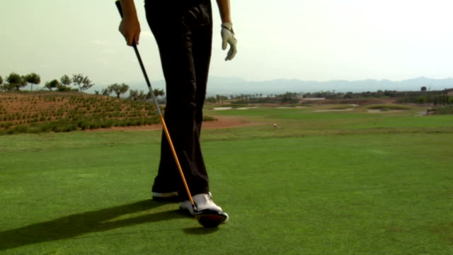 golf: trick - golf shoe stock videos & royalty-free footage