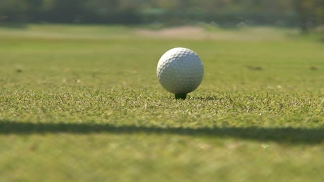 golf - golf ball stock videos and b-roll footage