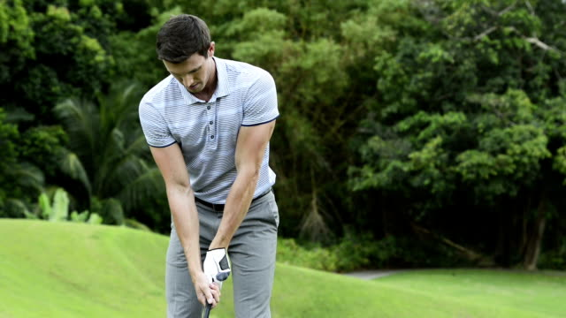 golf - golfspieler stock-videos und b-roll-filmmaterial
