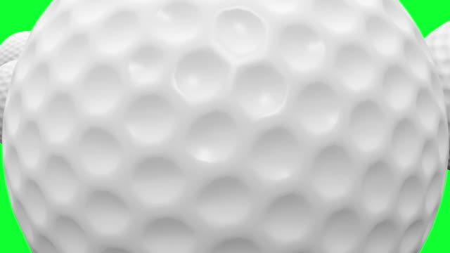 HD : Golf-ball Animation with Green Screen.