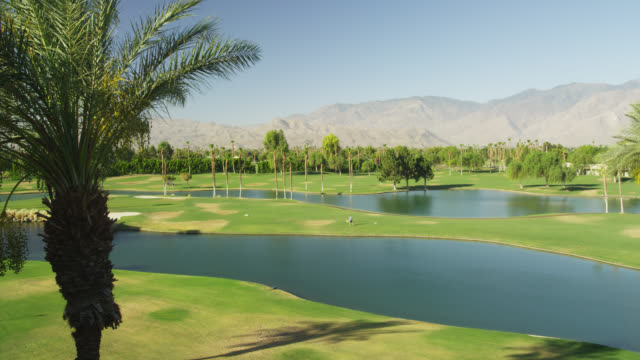 golfcourse - palm springs california stock videos & royalty-free footage