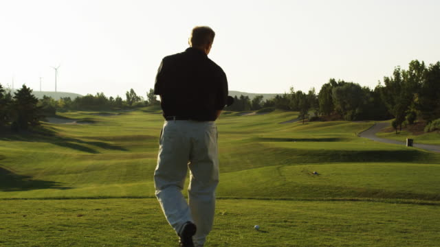 golfer about to tee off - golfer stock videos and b-roll footage