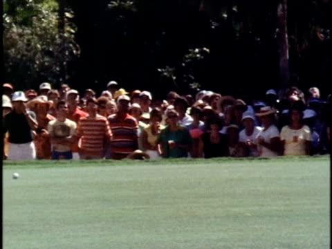 golfer bill kratzert missing a putt on the 18th hole at the hawaiian open golf tournament/ ws pan hubert green making a putt for playoffs/ honolulu... - 1978 stock videos & royalty-free footage