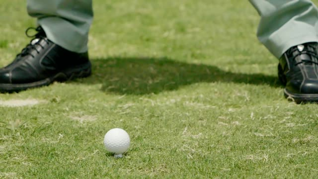 golfer during hit golf ball from t-off and putting golf ball to hole at golf course. - golf club stock videos & royalty-free footage