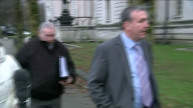 golfer found guilty of fraudulently claiming disability benefits cardiff cardiff crown court bannister arriving at court - bannister stock videos & royalty-free footage