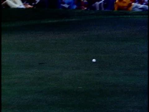 golfer gene littler putting a shot for a score of twelve under par at the hawaiian open golf tournament/ honolulu oahu hawaii islands usa/ audio - 1978 stock videos & royalty-free footage