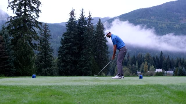 golfer hits a great tee shot - professional sportsperson stock videos & royalty-free footage