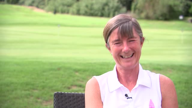 golfer hits three hole-in-one's in one day; england: london: croydon: croham hurst golf club: ext ali gibb interview sot various of gibb playing golf... - holing stock videos & royalty-free footage
