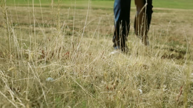 golfer hitting a bad shot out of fescue - golfer stock videos & royalty-free footage
