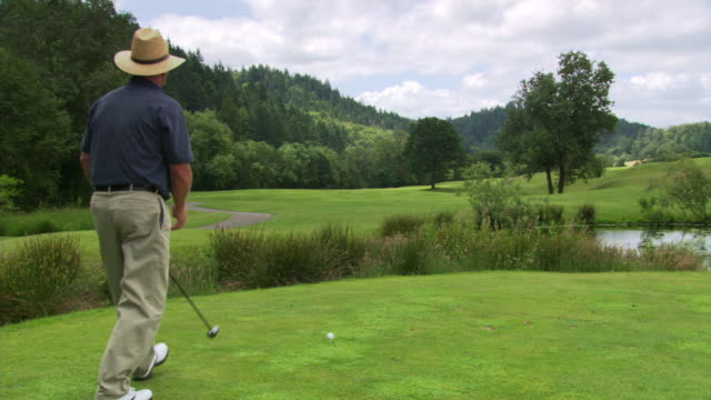 golfer in straw hat - see other clips from this shoot 1271 stock videos & royalty-free footage